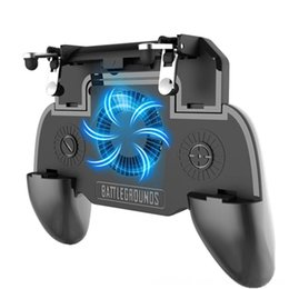 gaming controller accessories UK - Gaming Grip With Portable Charger Cooling FanFor Pubg Mobile Controller Controllers & Joysticks Game Accessories L1R1 Mobile Game Trigger Jo