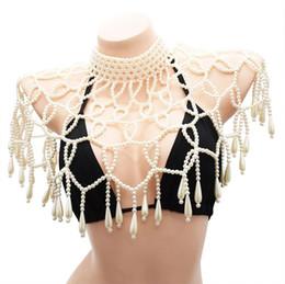 $enCountryForm.capitalKeyWord Australia - Amazing Crystal Handmade Choker Necklace Statement Big Pearl Pageant Prom Wedding Bridal Shoulder Jewelry Chain Necklaces Women