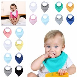 $enCountryForm.capitalKeyWord Australia - Solid Color Baby Bibs 13 Colors Cotton Newborn Kids Bandana Saliva Soft Infant Wrap Feeding Burp Cloth Towel Scarf OOA7054