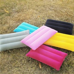 $enCountryForm.capitalKeyWord NZ - 42*25cm Mini Travel Inflatable Pillow PVC Flocking Nap Square Pillow Outdoor Hiking Rest Cushions