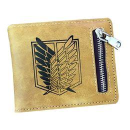 $enCountryForm.capitalKeyWord UK - Hot Selling The PU Leather Wallet Attack on Titan Wings Cartoon Purse Wallet