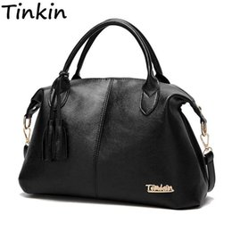 $enCountryForm.capitalKeyWord Australia - Tinkin High Capacity Soft Casual Pu Leather Female Handbag Fashion Women Shoulder Bags Daily Women Tote All Match Messenger Bag