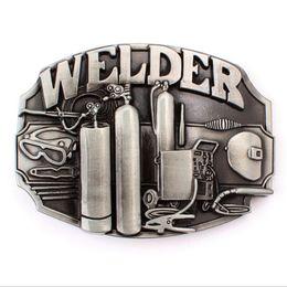 Metal Worker Australia - Custom made belt buckle welder metal Badge Punk rock style belts welding worker