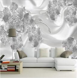 $enCountryForm.capitalKeyWord NZ - Custom Photo Wallpaper 3D Mural Wall Sticker Modern Simple Jewelry Flower Silk Mural TV Background papel de parede