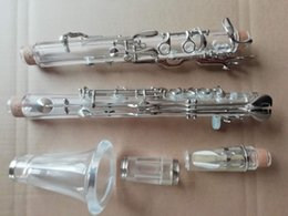 Plated Nickel Australia - Beautifully Clarinet G Tone 18 Keys Plexiglass Nickel Plating Good Sound