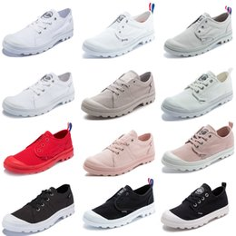palladium shoes leather Canada - high low sneakers palladium new arrival men 2020 women designer off black white classic PALLADIUM pampas baggy tactical boots platform shoes