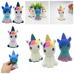 Cute animal rings online shopping - Unicorn squishy slow ring toy Rising Doll Animal Collectibles Squeeze Soft Cute Decompression Toy Kawaii Novelty Gifts items FFA1389
