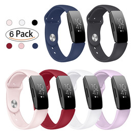 fitbit watches women UK - Silicone Wrist Band Strap for Fitbit Inspire Inspire Hr Bands Bracelet Double Color Watch Accessories Men Women Smartwatch