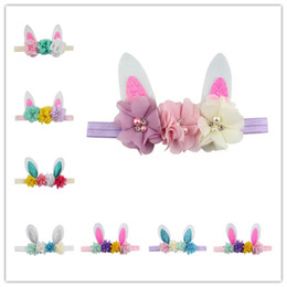 Flower birthday party For kids online shopping - Easter children s hair band performance birthday party headdress creative bunny ears flowers headwear festival gifts for kids hair accessory