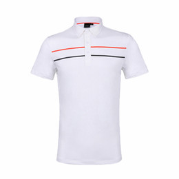 New Men PG Golf Футболка Стиль поперечной полоски Спортивная одежда с коротким рукавом 4 цвета Одежда для гольфа L-XXL на выбор Досуг Гольф рубашка Бесплатная доставка на Распродаже