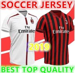 19 20 ac Milan soccer jersey 2019 2020 AC Milan Piatek BACCA PAQUETA  BONUCCI home BERTOLACCI MENEZ CALHANOGLU football shirts soccer jersey 70b85ec65