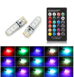 $enCountryForm.capitalKeyWord Australia - Car RGB LED 12V T10 LED RGB 5050 6SMD Remote wireless Controller Reading Wedge Light Brake Turn Signal Leds Warning Lights