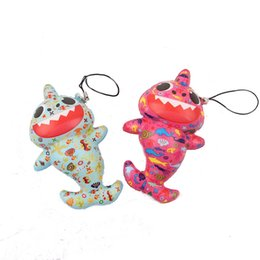 $enCountryForm.capitalKeyWord Australia - Colorful Baby Shark Squishy Toy Printed Squishies Keychain Phone Pendant Accessories Rising keyring Decompression Kids gift toys FFA2702