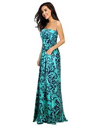 58a8043c5 Leadingstar Women Strapless Maxi Vintage Floral Print Graceful Party Long  Dress