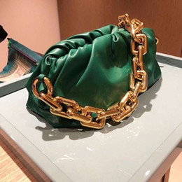 Fashion Wide Chain pu Leather Bag Hobos Handbags Women Bags Shoulder Purses Dumpling Clutches Totes Bag on Sale