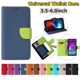 hybrid flip leather case iphone UK - Universal Hybrid Wallet PU Flip Leather Case Card Slot For 3.5 To 6.0 inch Mobile Phone iPhone 2019 Samsung Note 10 Nokia SONY Huawei XiaoMi