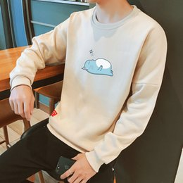 V Neck Pullover Jacket Australia - Pop2019 Pattern Man Round Neck T T-shirt Spring And A Sweater Male Cool Time Pullover Long Sleeve Suit Youth Easy Jacket Rendering