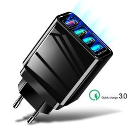 $enCountryForm.capitalKeyWord Australia - Universal 4 USB Quick charge 3.0 QC 3.0 AUTO 3.1A for Iphone 7 8 EU US Plug Phone Fast charger charging for all smart phone