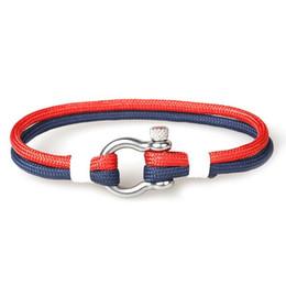 $enCountryForm.capitalKeyWord UK - Holiday Gift Handmade Double 550 Paracord Bracelet Multi Color Cord Stainless Steel Buckle Bracelet for Sale