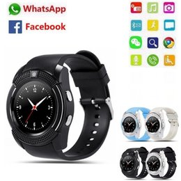 $enCountryForm.capitalKeyWord Australia - Sports Men's Smart Watch V8 SIM Card Android Camera Round Answer Phone Call Phone Smart Watch Heart Rate Fitness Tracker