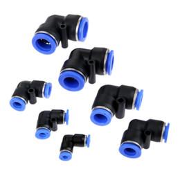 pneumatic connectors 2019 - push in 5Pcs lot Pneumatic Parts Elbow Pneumatic Push In Fittings Connector Plastic for Air Water Vacuum Hose Tube Airli