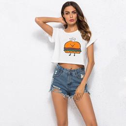 Wholesale best summer cartoons for sale – custom Plus Size XL White T Shirt Cartoon BEST FEIENDS Hamburger Fries Tees Shirt Summer Short Sleeve O Neck Tops Women T Shirt Tshirt