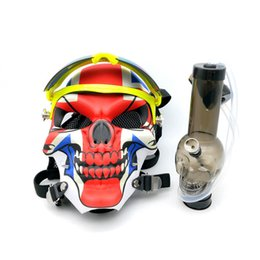 $enCountryForm.capitalKeyWord UK - Gas Skull Mask With Acrylic smoking pipes Water Pipe Bongs Oil Rig Smoking Water Pipes Hookah Bubblers Tobacco Tubes