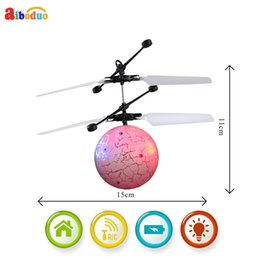 Build Rc Helicopters NZ - Hot Rc Flying Ball Drone Helicopter Ball Built-in Shinning Led Lighting For Kids Toy Free Shipping17dec18