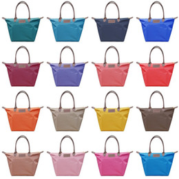 Simple cloth bagS online shopping - Dumpling Handbag Oxford Cloth Waterproof Dumplings Bag Nylon Cloth Handbag Shoulder Bags Waterproof Storage Bag Zipper Simple Shopping Bags