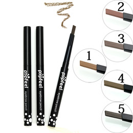pencil cosmetics Australia - Factory Wholesale 5 Color Eye Make up Automatic Eyebrow Pencil Waterproof Long-Lasting Makeup Brows Cosmetic High Quality Eye Brow Liner Pen