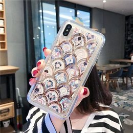 Iphone Girl Silver Case Australia - Bright Girl Heart Sand Mobile Phone Case For iPhone X XS MAX  XR 8 7 6 Plus Non-slip Shock Absorption Soft Shell