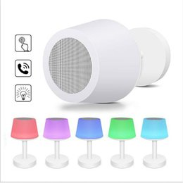 mini bedside lamps Australia - New Bluetooth Speaker Smart Light Colorful LED Night Light Sound Bedside Table Lamp Wireless Speaker stero Loudspeaker DHL shipping
