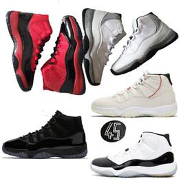 promo code b74cf 761aa nike jordan retro 11s Jumpman 11s Herren-Basketballschuhe Niedrig Hoch Neu  Concord 45 Platinfarbton Space Jam Schwarz Gym Rot XI Designer Sneakers  Herren ...