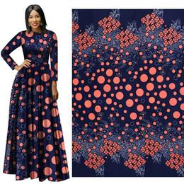 Wholesale Batik Fabric Australia - African fabric real wax print fabric For Dress Suit cotton batik Hollandais wax cloth 6 Yards ankara african print