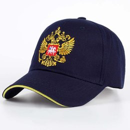 $enCountryForm.capitalKeyWord Australia - New Unisex 100%Cotton Outdoor Baseball Cap Russian Emblem Embroidery Snapback Fashion Sports Hats For Men & Women Patriot Cap