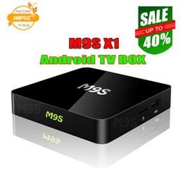 Wholesale 1 M9S X1 Android TV Box Amlogic S905X Quad Core GB GB Support G Wifi K Streaming Google Media Player