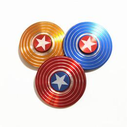 $enCountryForm.capitalKeyWord Australia - Super Heroes Fidget Spinner America Captain Shield Marvel Finger hand Spinners AL Alloy Metal Toy Tri decompression toys Puzzle beyblade