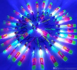 $enCountryForm.capitalKeyWord Australia - LED Flying Toys Light Rocket Helicopter Rotating Party Fun Kids Outdoor Flashing Fly Arrow Toy Light
