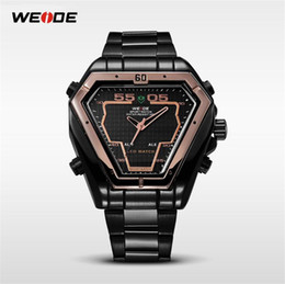 High End Sports Watches Australia - WEIDE Fashion brand men's sports watch triangle new geometric element design stainless Japan high-end movement brand new quality watch