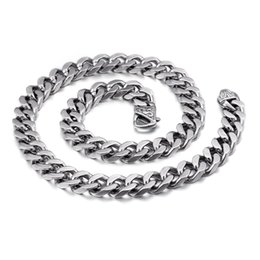 China 24inch Mens Rock Hip Hop Titanium Steel Chains Necklace Stainless Steel Thick Heavy Hyperbole Whip Link Chain Jewelry cheap steel whips suppliers