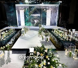 Drapes For Decorations Parties Australia - lattest style Wedding Stage Decoration Wintina Pipe and Drape stand, Backdrop For Event Party decor0599