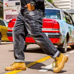 32 38 Jeans Australia - Plus Size 32 34 36 38 40 42 44 46 Men's Fashion Embroidery Hole Jeans 2019 New High Quality Cotton Large Size Motorcycle Pants