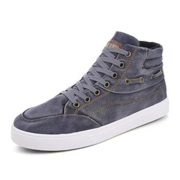 $enCountryForm.capitalKeyWord Australia - LISM 2018 Spring New Men's Casual Canvas Shoes Lace-Up Vulcanized Shoes Fashion Classic Breathable Non-slip Comfort Canvas