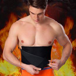$enCountryForm.capitalKeyWord Australia - Adjustable Waist Tummy Trimmer Slimming Sweat Belt Fat Body Shaper Wrap Band Weight Loss Burn Exercise Men Women Belly #368869