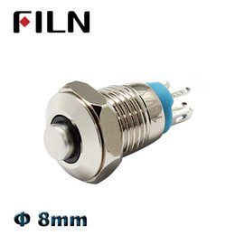Discount mini switch push button - 8mm mini metal push button switch on off momentary high head switch 3v 12v led illuminated push button 1 no