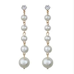 $enCountryForm.capitalKeyWord Australia - Long Pearl Earrings pendiente flamenca acrylic Rhinestone earrings vintage drop jewelry women Big boho jewelry