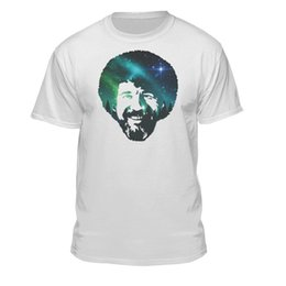 Painting Faces Australia - Bob Ross The Joy of Painting Official Galaxy Face T-shirt for Men and Women