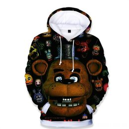 boys hoodies sale UK - Night At Freddy Spring Autumn Sport Hoodies Cheap Sale Fashion Boys Girls Five Hoodies & Sweatshirts Baby & Kids Clothing Outerwear Children