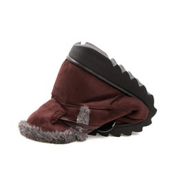 $enCountryForm.capitalKeyWord UK - Winter Women Boots Flock Warm Ankle Snow 2019 Platform Mother Shoes Woman Slip On Flats Button Creepers XWX1597