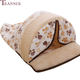 small house puppies Australia - Transer Detachable Pet Dog Cat Sleeping Bed Tent Soft Warm Fleece Mat House Puppy Small Dogs Nest Kennel Pet Supply 90611